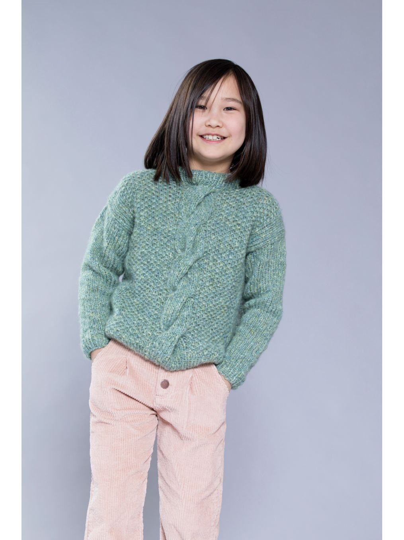 Kjøp strikkepakke Merina skogsgrønn genser hos HoY.no Hoy.no