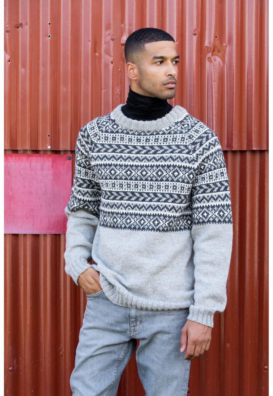 DG394 17 Peer genser grå | Dale Garn