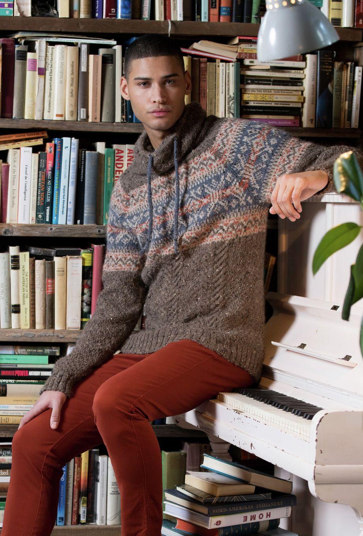 Ulrikke Genser i Rust Alpakka Tweed Classic, kjøp den som