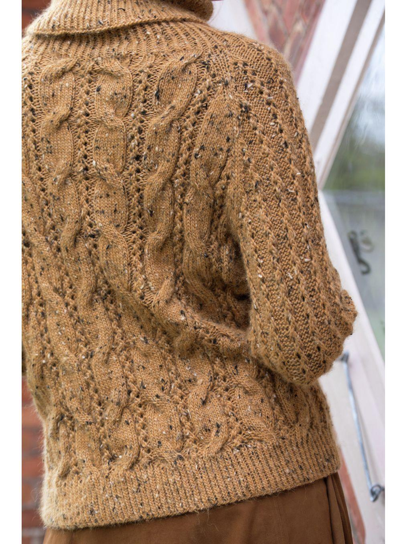Fergie Genser i Maisgul Alpakka Tweed Classic, kjøp den som