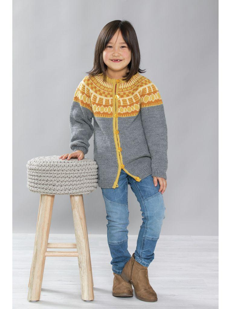 Tor Genser med rundfelling, kjøp den som strikkepakke hos