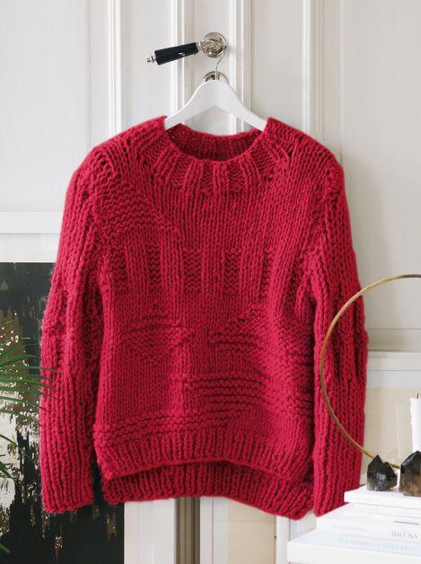 Gudrun Genser Hvit, kjøp den som strikkepakke hos HoY.no
