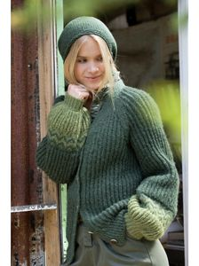 Ulrika Cardigan og Headscarf, Grønn