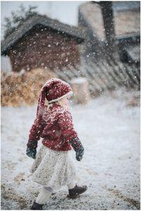 Snurreskjørt Barn, Natur Alpakka Tweed Classic